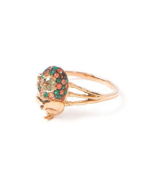 Daniela Villegas   Metallic Pink Gold Beetle Ring   Lyst