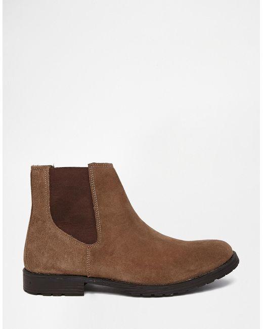 jack jones suede chelsea boots in beige for men lyst. Black Bedroom Furniture Sets. Home Design Ideas