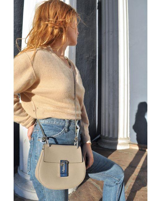 chloe designer bags - chloe grey medium drew saddle bag, chloe knockoff handbags
