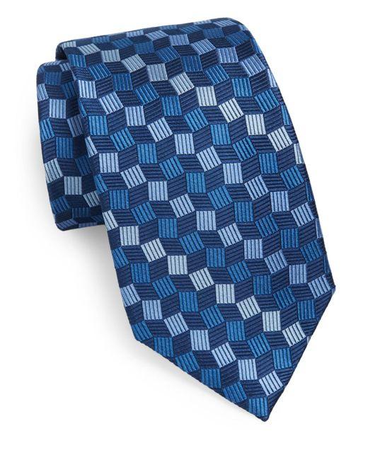 Burma Bibas   Blue Geo Silk Tie for Men   Lyst