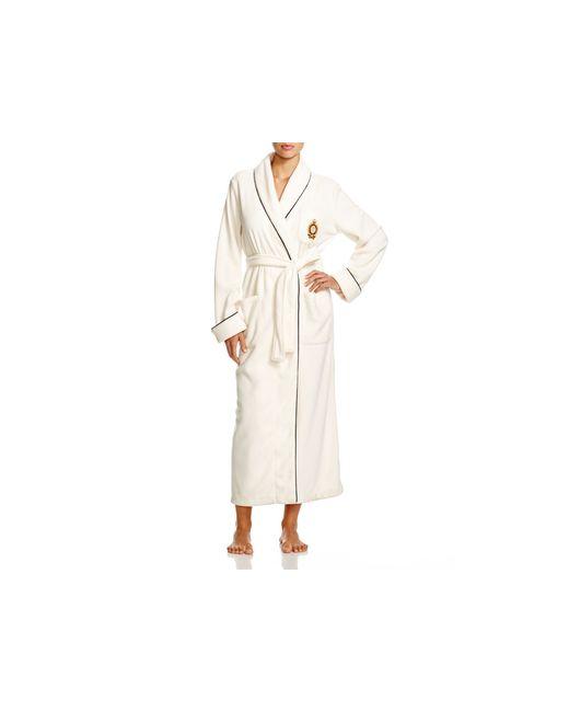 Pink Pony | Natural Lauren Fleece Shawl Collar Long Robe | Lyst