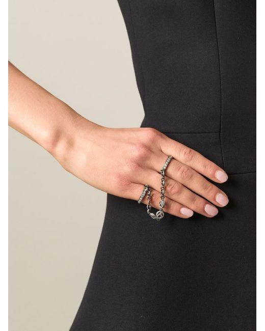 Loree Rodkin | Metallic Diamond Handcuff Ring | Lyst
