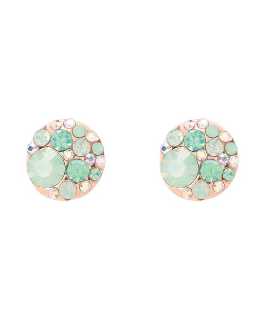 Betsey Johnson | Blue & Rose Gold Boost Crystal Stud Earrings | Lyst