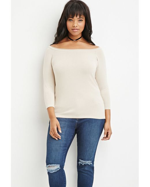 Forever 21 | Natural Plus Size Classic Raglan Sweater | Lyst