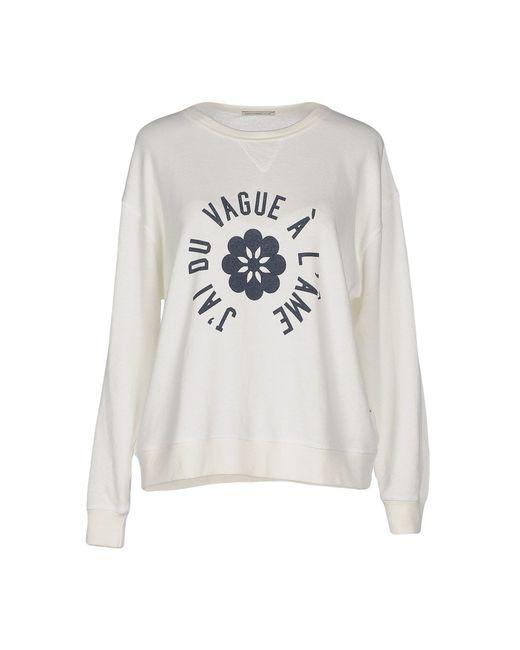 AG Jeans | White Sweatshirt | Lyst