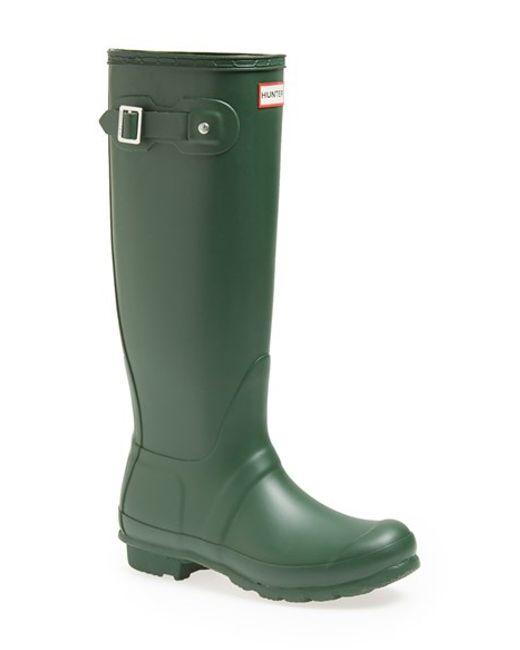 Hunter | Green 'original Tall' Rain Boot | Lyst