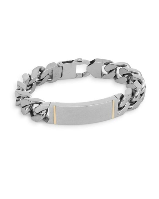Saks fifth avenue 14k Yellow Gold & Stainless Steel Large Link ...