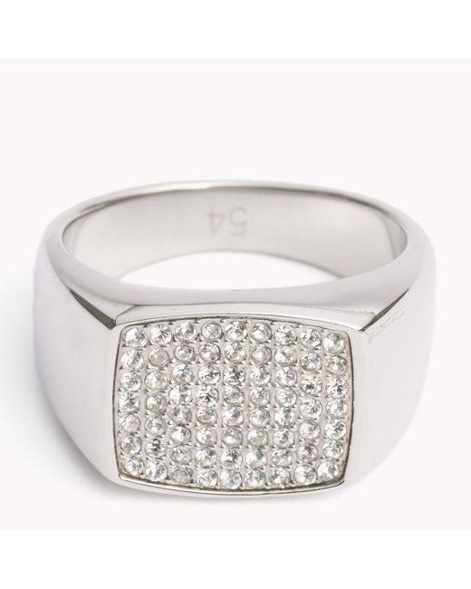 Tommy Hilfiger | Multicolor Crystal Studded Ring for Men | Lyst