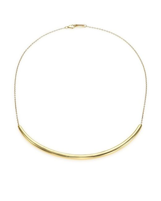 Ippolita | Metallic Glamazon 18k Yellow Gold Long Curved Bar Necklace | Lyst