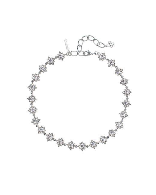 Oscar de la Renta   Metallic Swarovski Crystal Delicate Star Necklace   Lyst