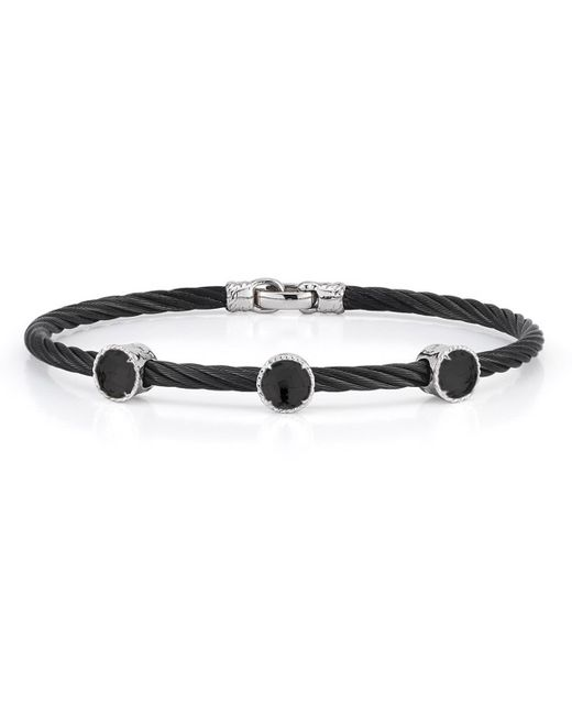 Alor | Black Triple Onyx Station Cable Bracelet | Lyst