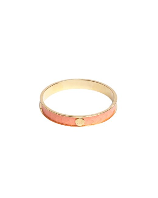 Rachael Ruddick | Pink Leather Inlay Bangle | Lyst