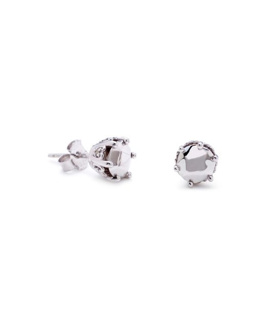 Anna Sheffield | Metallic Solitaire Stud Earrings | Lyst