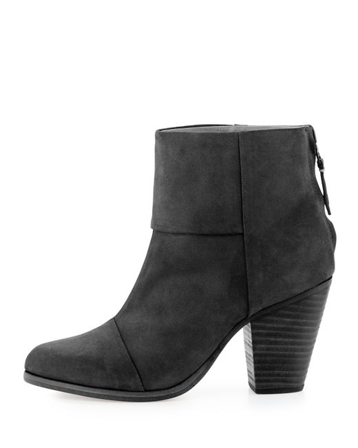 Rag & Bone | Black Newbury Leather Ankle Boot | Lyst