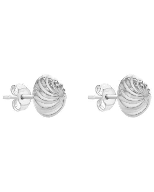 Ib&b | Metallic 9ct Gold Swirl Detail Dome Stud Earrings | Lyst
