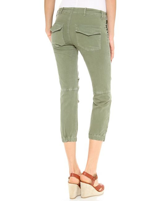 Nili Lotan | Green Cropped Military Pants | Lyst