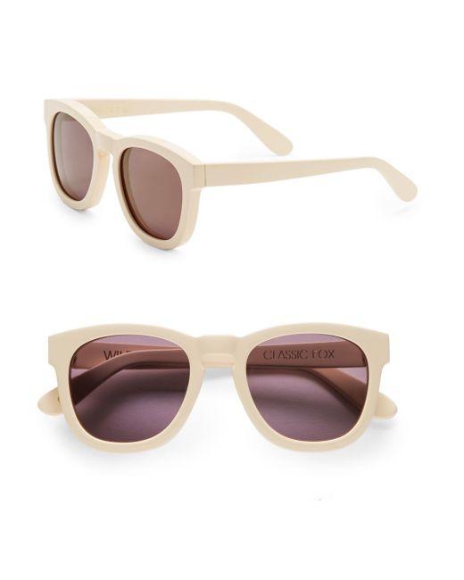 Wildfox | Natural Fox Deluxe Square Sunglasses | Lyst