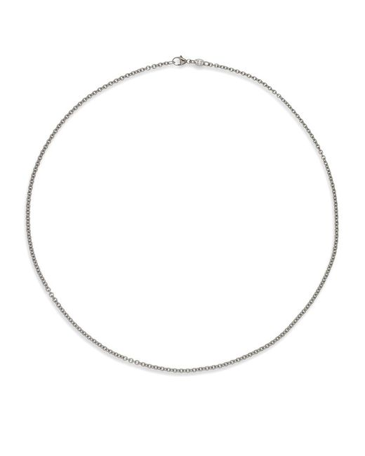 Theo Fennell | White Gold Small Oval Belcher Chain | Lyst