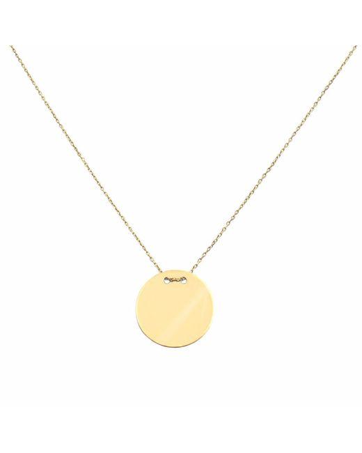 Talia Naomi   Metallic Golden Eclipse Necklace Gold   Lyst