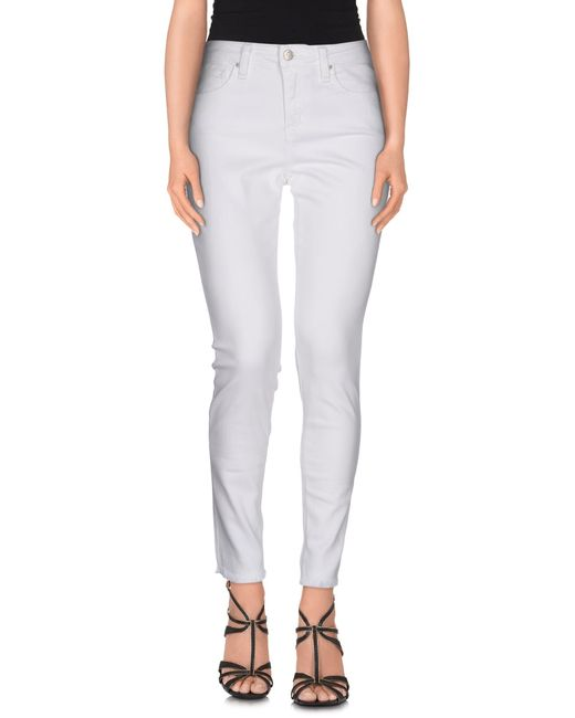 Joe's Jeans | White Denim Trousers | Lyst