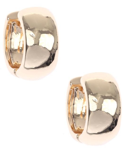 Nine West | Metallic Classic Gold Hoop Earrings | Lyst