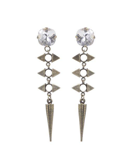Jill Golden | Metallic Crystal Reflection Spike Earring | Lyst
