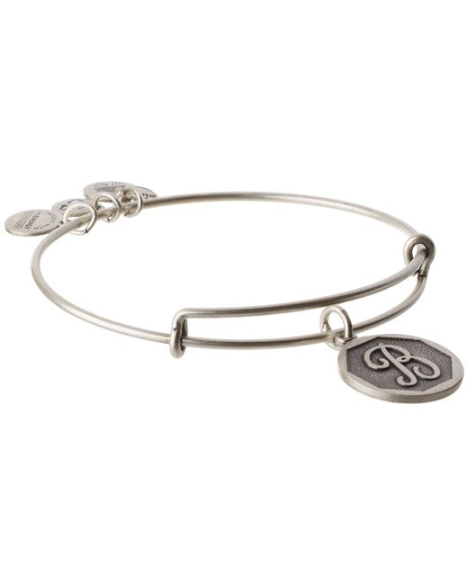 ALEX AND ANI | Metallic Initial B Charm Bangle | Lyst