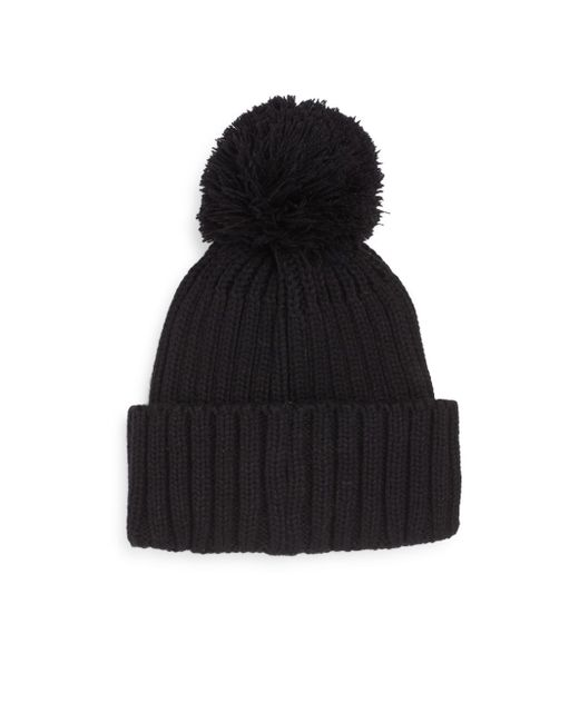 Saks Fifth Avenue | Black Dyed Fox Fur And Cashmere Soft Cap | Lyst
