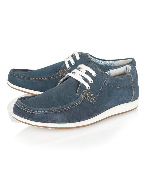 Lotus | Blue Allington Lace Up Casual Moccasins for Men | Lyst