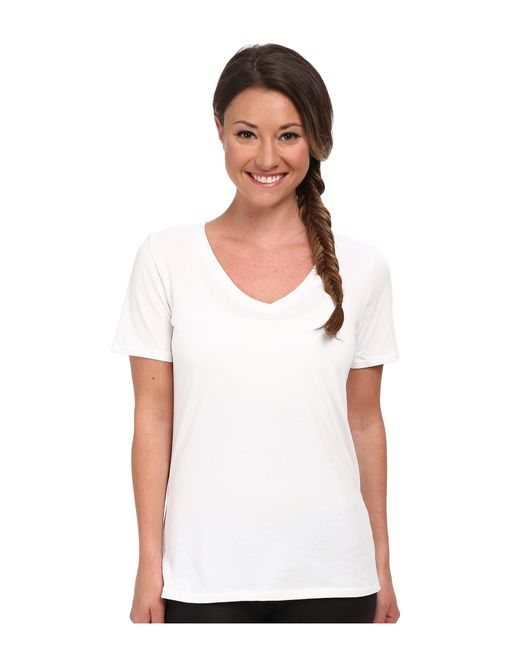 Nike | White Dri-fit™ Cotton V-neck Short Sleeve Tee | Lyst