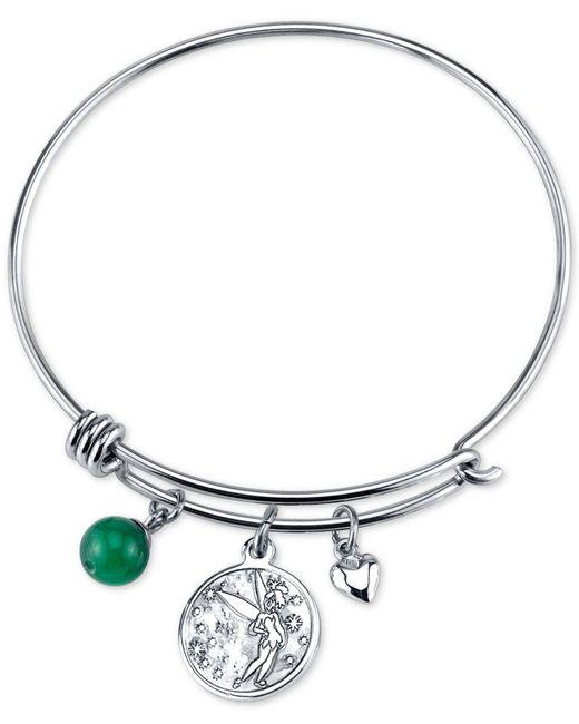 Tinkerbell Charm Bracelet: Disney Tinkerbell Dreaming Of You Bangle Bracelet In