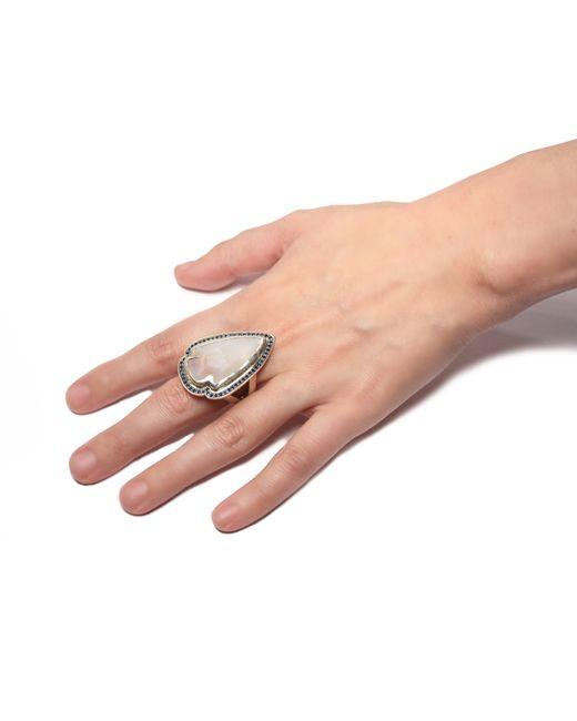 Pamela Love | White Jasper Sapphire Ring - Size 7 | Lyst