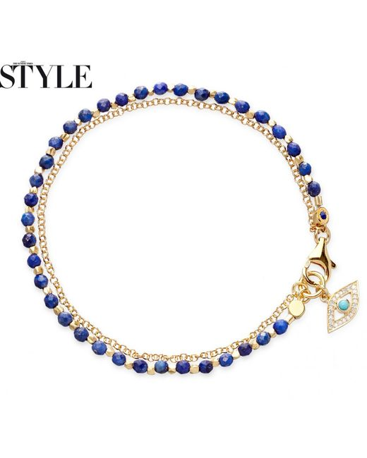 Astley Clarke | Metallic Lapis Evil Eye Biography Bracelet | Lyst