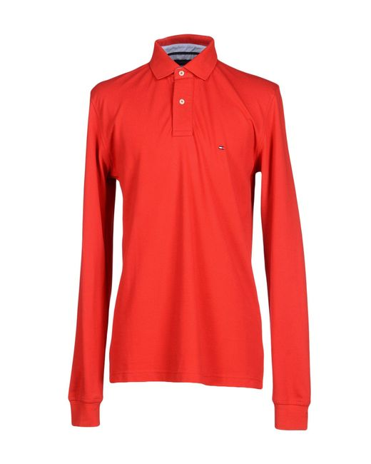 tommy hilfiger polo shirt in red for men lyst. Black Bedroom Furniture Sets. Home Design Ideas