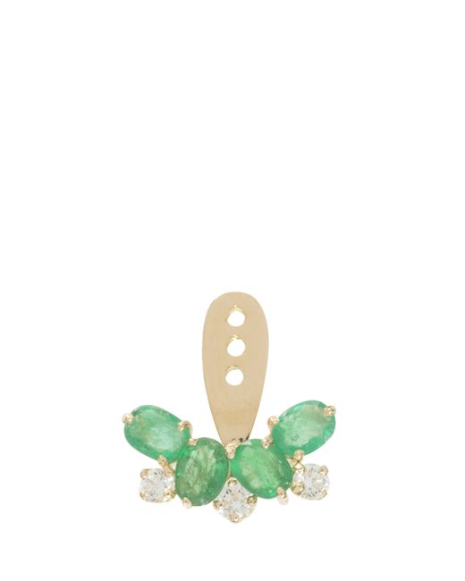 Yvonne Léon | Metallic Diamond And Emerald Earring | Lyst
