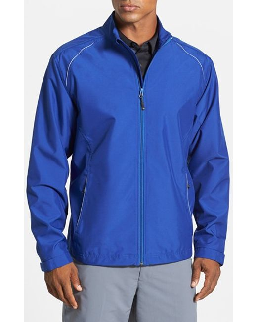 Cutter & Buck | Blue 'weathertec Beacon' Water Resistant Jacket for Men | Lyst