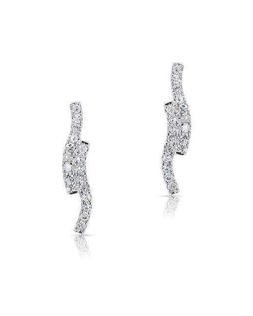Anne Sisteron - Metallic 14kt White Gold Diamond Ripple Stud Earrings - Lyst