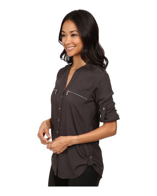 Calvin Klein | Gray Zipper Roll Poly Cdc Sleeve | Lyst
