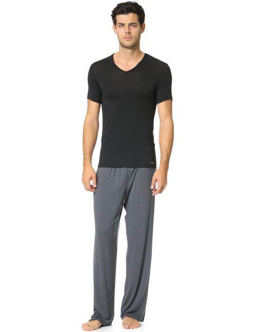 Calvin Klein Body Modal Pants In Gray For Men Lyst