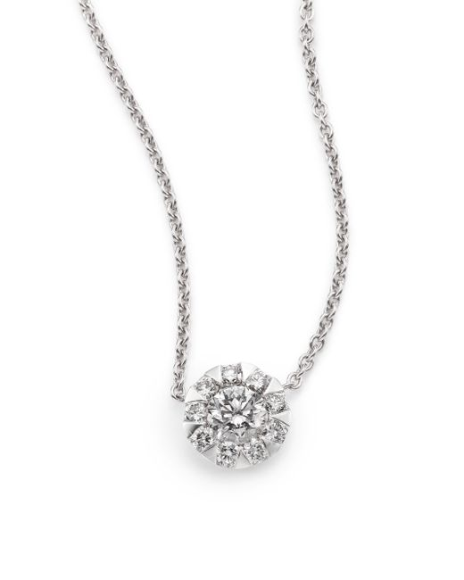 Kwiat | Sunburst Diamond & 18k White Gold Pendant Necklace | Lyst