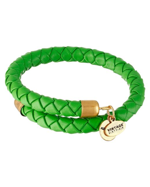 Alex And Ani Uncharted Voyage Kelp Wrap Bracelet In Green