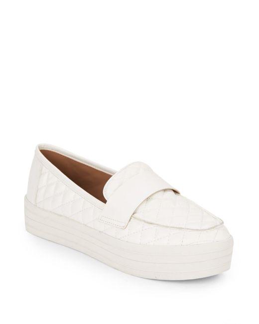 Steve Madden | White Howell Quilted Slip-on Platform Sneakers | Lyst