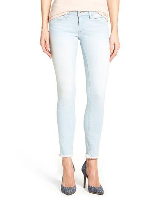 mavi jeans 39 serena 39 stretch ankle super skinny jeans in. Black Bedroom Furniture Sets. Home Design Ideas