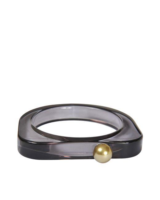 MM6 by Maison Martin Margiela   Black Plexiglass Bracelet   Lyst