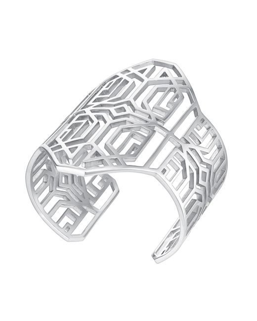 Amanda Wakeley | Metallic Deco Silver Bangle | Lyst
