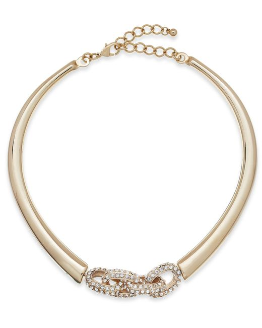 INC International Concepts | Metallic Crystal Link Collar Necklace | Lyst