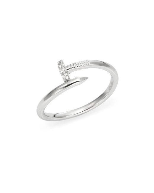 KC Designs | Brilliant Diamond & 14k White Gold Nail Ring | Lyst