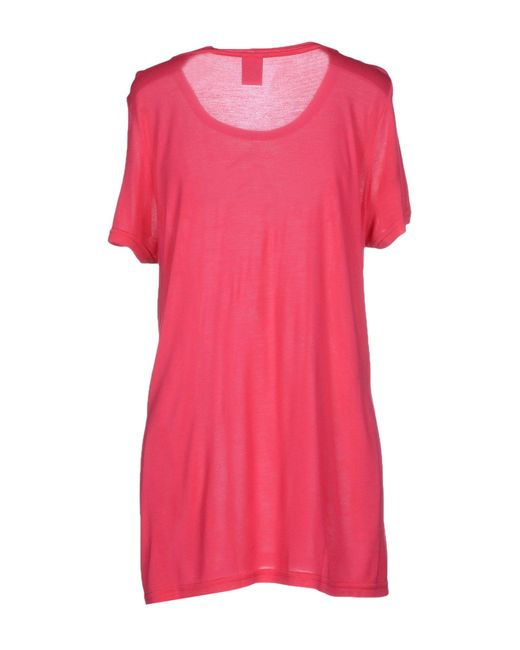 vero moda t shirt in pink fuchsia save 30 lyst. Black Bedroom Furniture Sets. Home Design Ideas