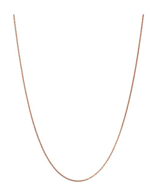 Links of London | Pink Rose Gold Vermeil Diamond Cut Chain | Lyst