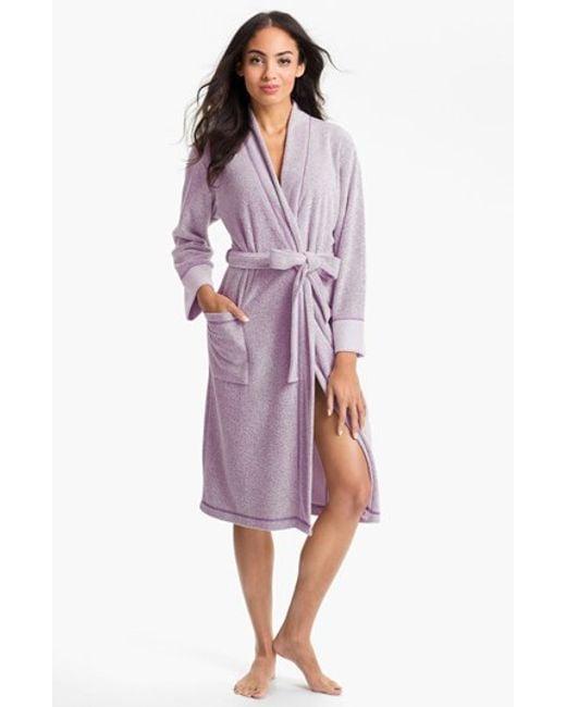 Natori | Purple 'nirvana' Midi Robe | Lyst